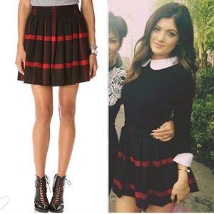 Alice & Olivia red/black plaid wool mini skirt 2